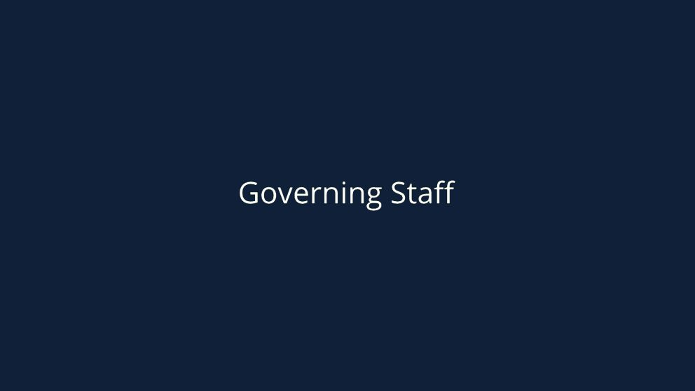 Governing Staff