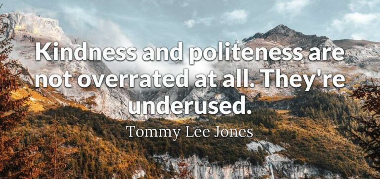 Thoughts For The Week 13 Sept Politeness